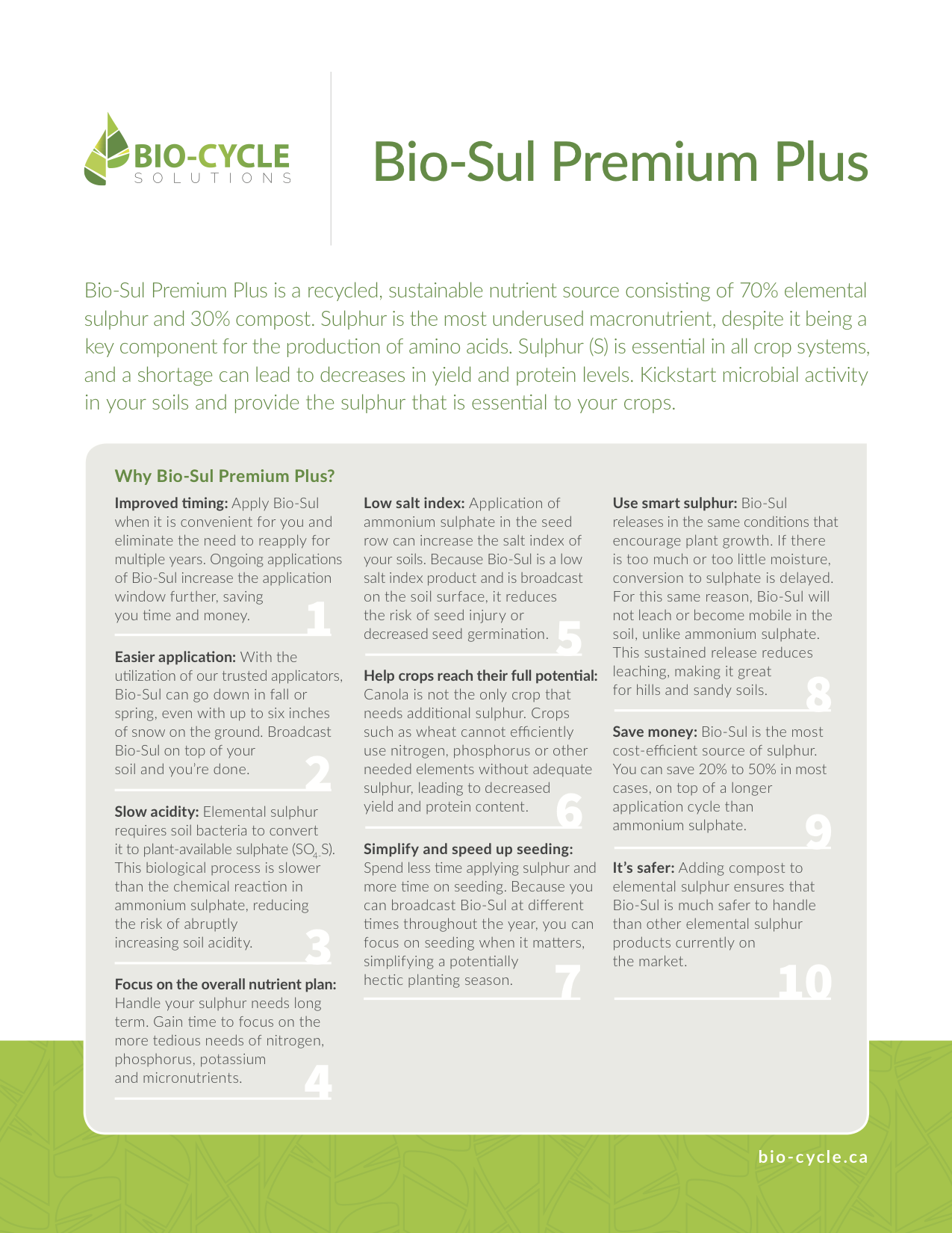 10-Reasons-to-use-Bio-Sul-Premium-Plus