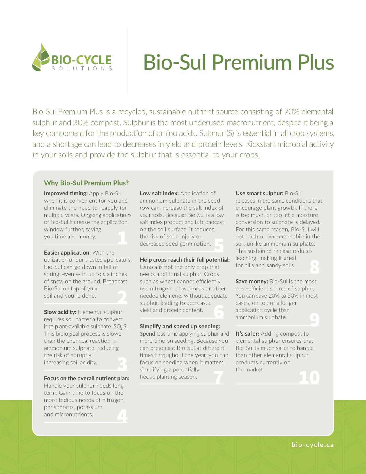 10-Reasons-to-use-Bio-Sul-Premium-Plus